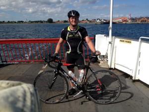 Hals Færgen ca 90 km hjem