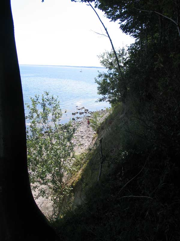 Skrænten ved Kobbelskov læg mærke til manden på stranden, for at have lidt at forholde sig til